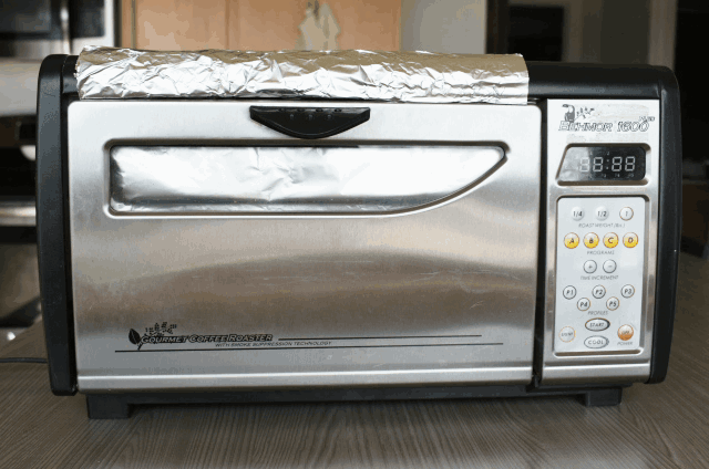 Behmor 1600 with tinfoil