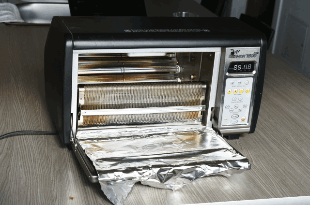 Tinfoil added to the Behmor 1600 Plus