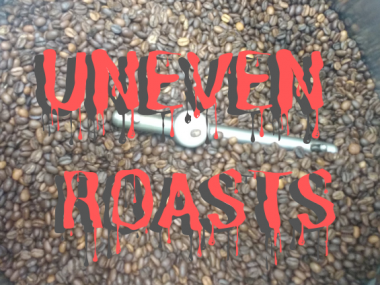 Uneven roasted coffee beans